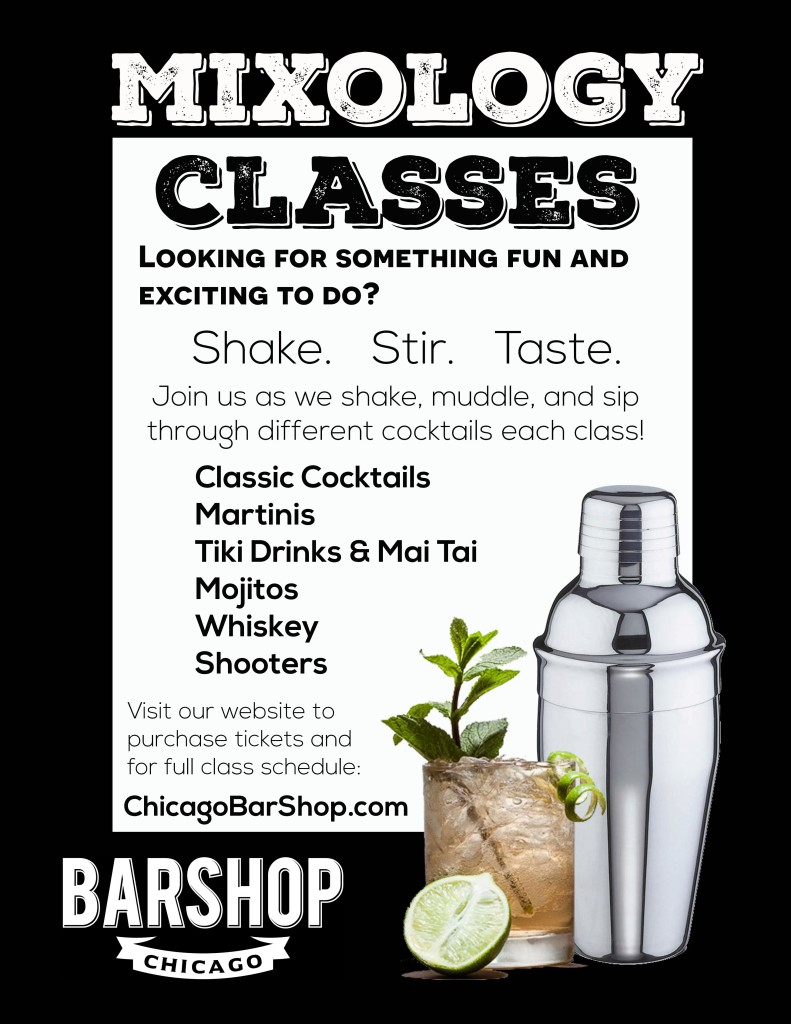 Chicago Bar Shop Mixology Flyer