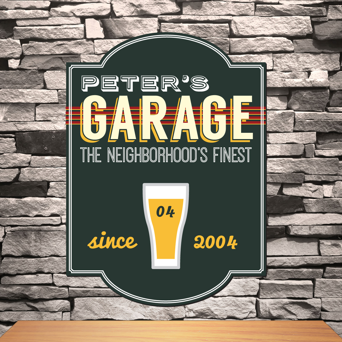 design custom personalized graphica signs garage sign